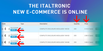 The ITALTRONIC NEW E-COMMERCE is online